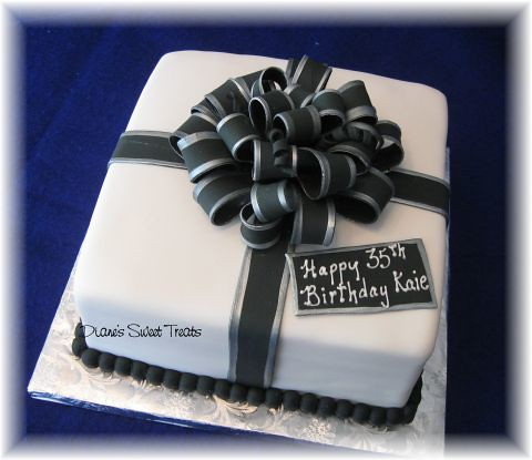 Free Black And White Birthday Party Cake Images
