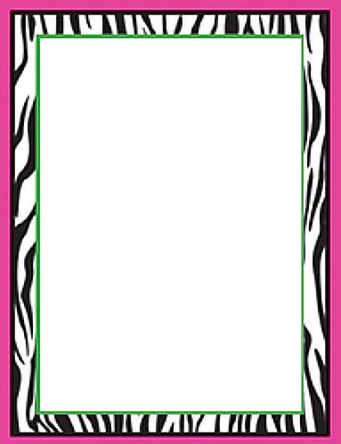 Zebra Hot Pink Border Bday Invite Kittencute8 Flickr