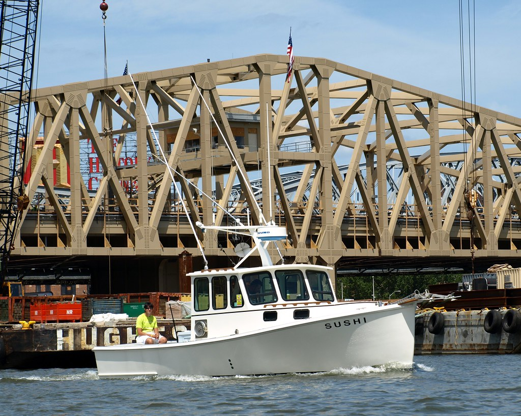 Sushi fishing boat harlem river new york city at the for Fishing boats nyc