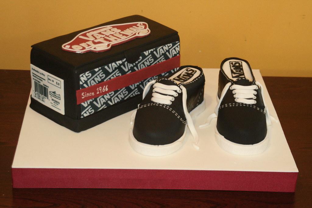 Surprise Birthday Vans Shoe Cake Slightly Smaller Than