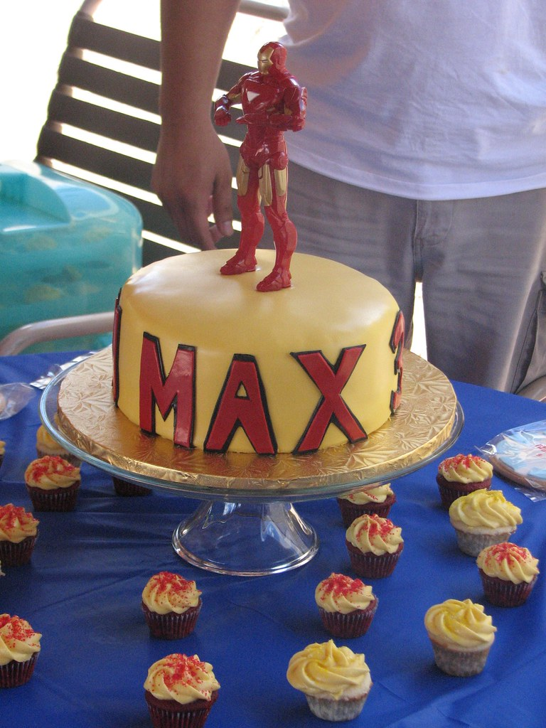 Images Of Iron Man Birthday Cakes : Iron Man Birthday Cake Iron Man cake for a 3 year old ...