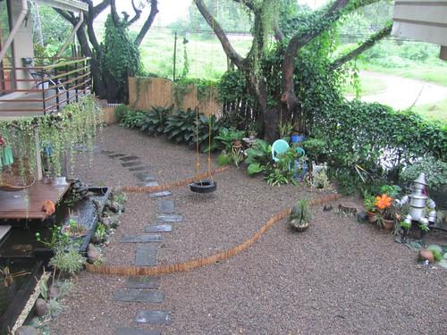 View of pond and gravel garden gravelgardener flickr for Garden pond gravel