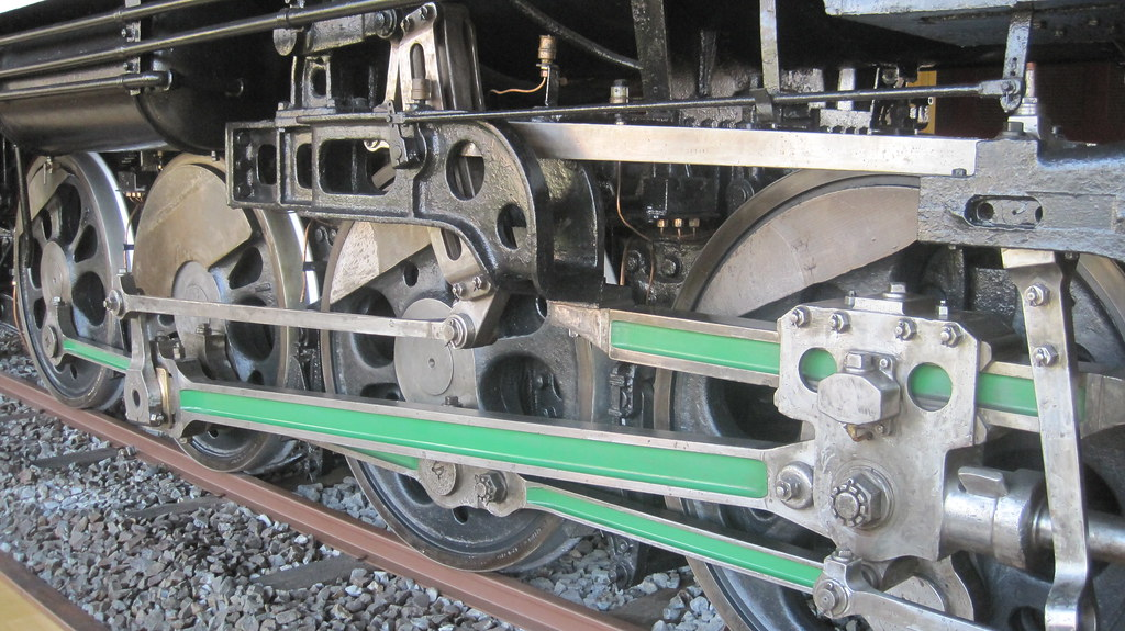 Steam Engine Wheel Driving : Driving wheels connecting rods on steam locomotive model