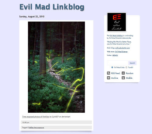 Evil Mad Linkblog | by oskay