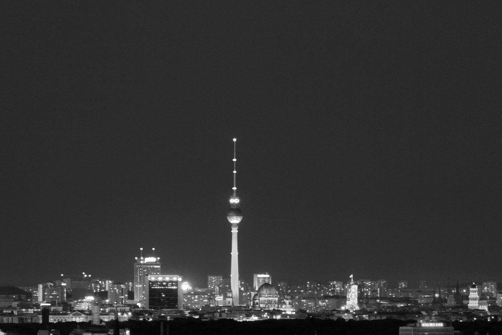 Berlin White Night Berlin Skyline at Night