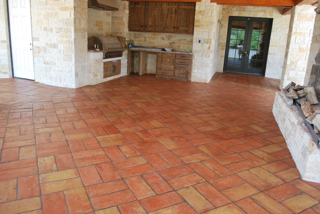 Terracotta Tile Flooring For Outdoor Kitchen Terracotta