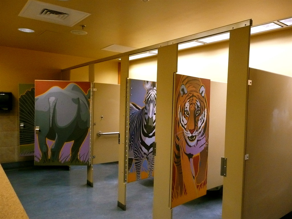 the very exciting toilets at Denver Zoo | ...plus, as an add… | Flickr