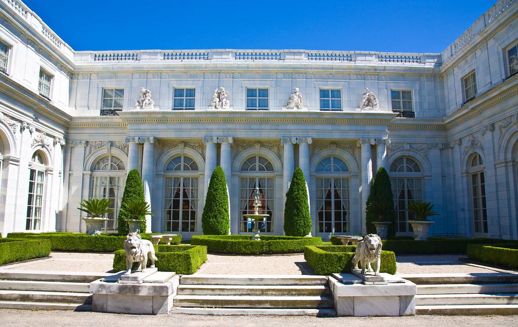 rosecliff mansion  newport  ri closeup