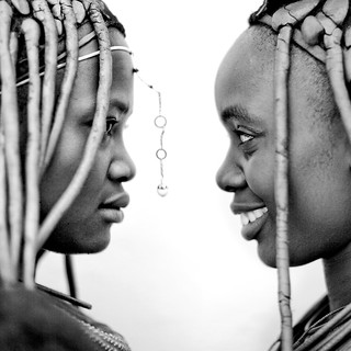 Himbas girls in profile, Angola | by Eric Lafforgue