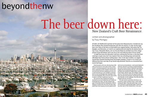 Beer Northwest - Beer in NZ article p1 | by BikeandBrew