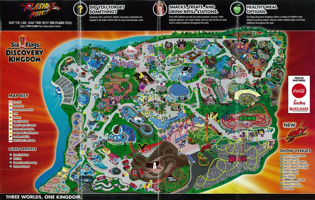 Six Flags Discovery Kingdom 2011 Map | The 2011 brochure for… | Flickr