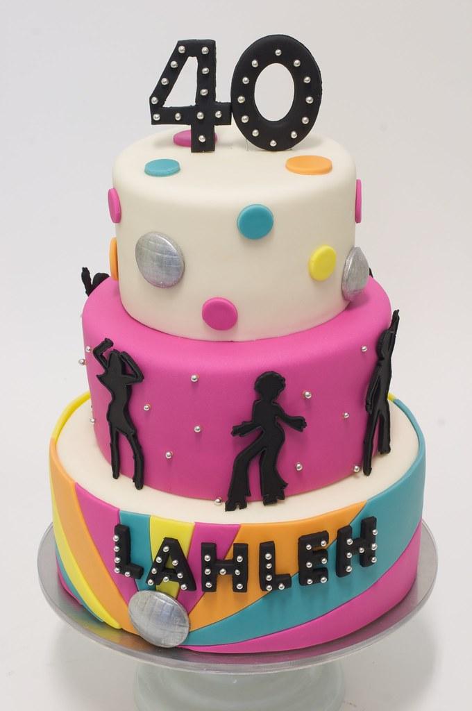 Cake Ideas Disco Birthday Party : Disco Birthday Cake www.studiocake.com BethAnn ...