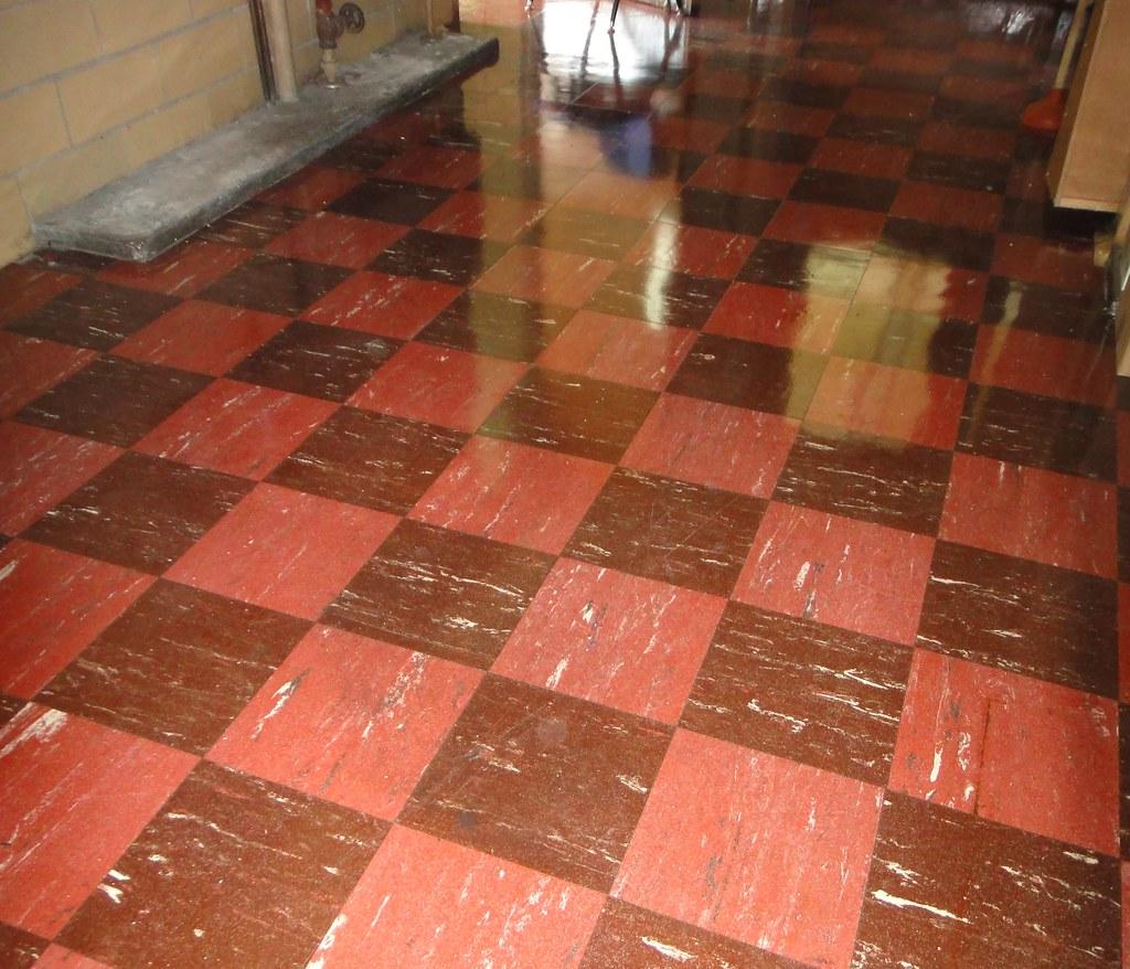Retro Checker Floor Tile Asbestos 9x9 Checker An Appa