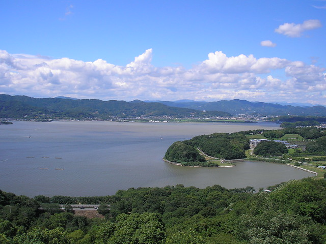 View at the top of Kanzanji Ropeway