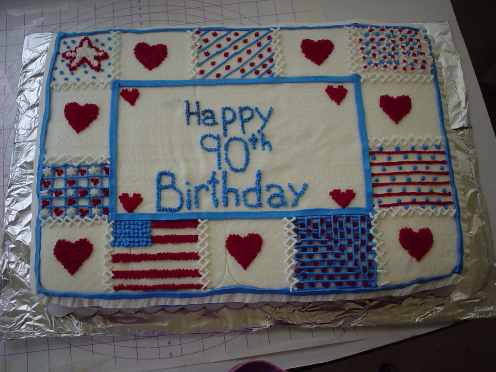 Red, White, and Blue Birthday Cake | The Cookie Lady ...