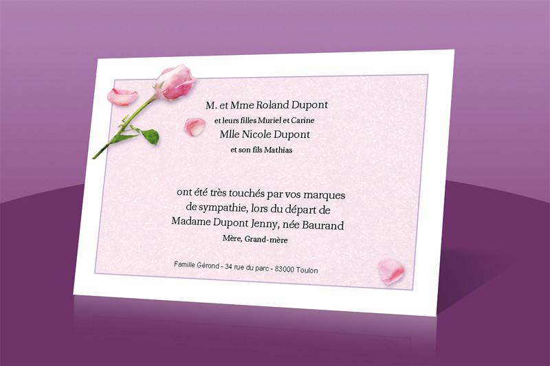 faire part d c s rosalia carte remerciement deces flickr. Black Bedroom Furniture Sets. Home Design Ideas
