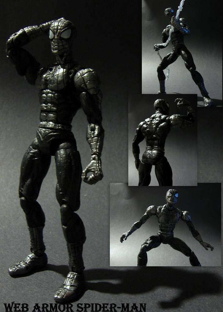 marvel legends web armor spiderman custom customized