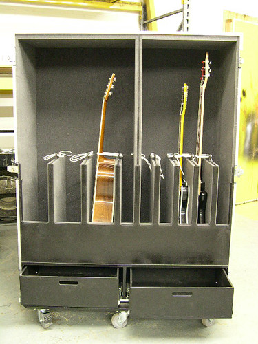 9 Guitar Case With 2 Drawers For Storage Nashville