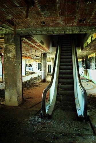 Abandoned Escalator In Abandoned Ski Resort Viola St Gr 233