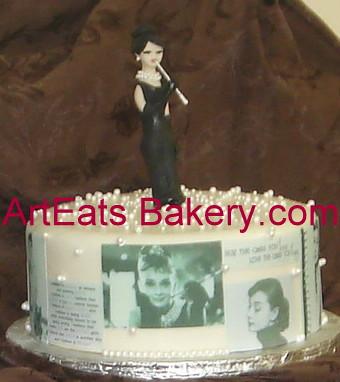 Audrey Ross Cake Artist : custom Audrey Hepburn fondant birthday cake Art Eats ...