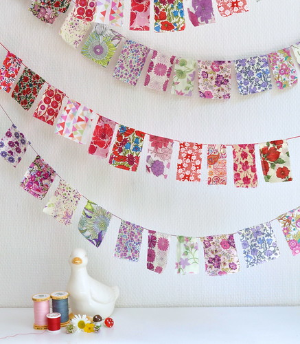 Lovely Liberty of London flag buntings | by Ravenhill Designs