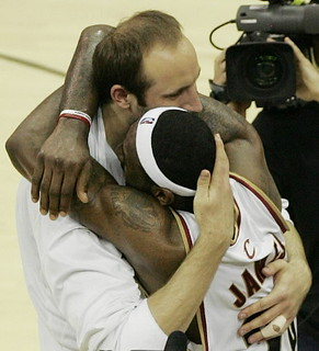 Zydrunas Ilgauskas ebraces LeBron James | by Cavs History