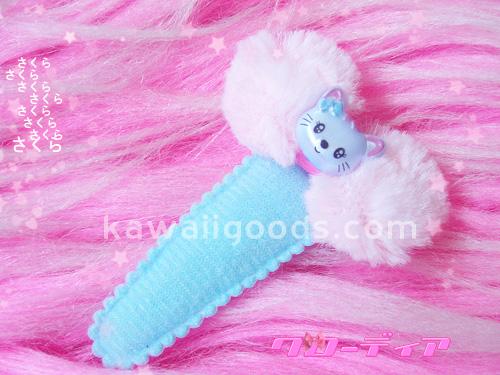 Kawaii Furry Bow Kitty Hair Clip | Claudia De La Rosa | Flickr