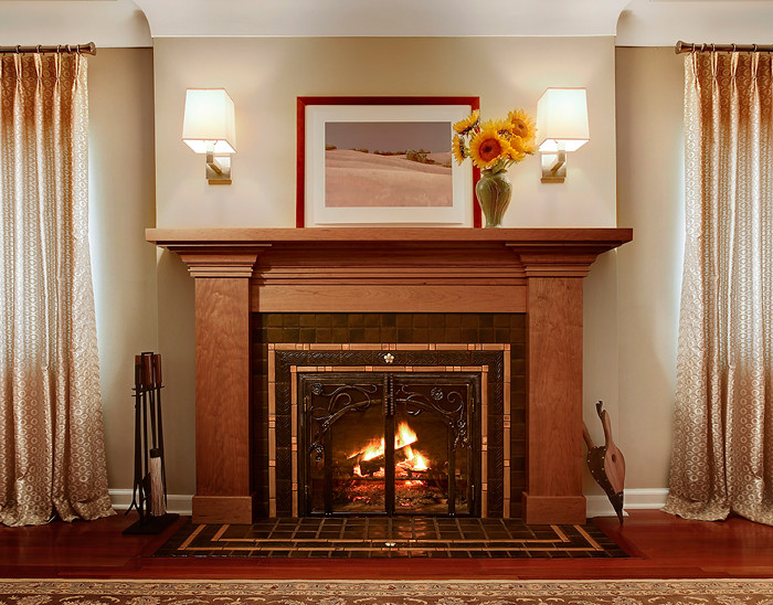 Pewabic Tile Fireplace | Meadowlark Builders | Flickr