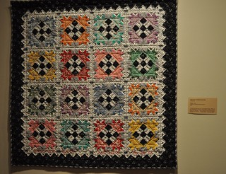 black and white and color quilt SMofA quilt show 2010 | by vickivictoria