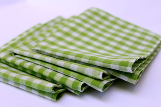 Green Gingham Cloth Napkins | by Peppermint Pinwheels