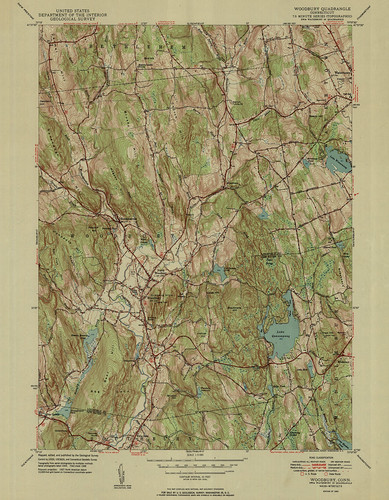 Woodbury Quadrangle 1950 - USGS Topographic Map 1:31,680 | by uconnlibrariesmagic