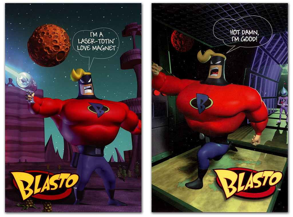 Ic Free Shipping >> Blasto Promo Card 02 & 03 | Sony did these cool promo ...