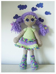 Lili, unique crocheted art doll by KooKooCraft