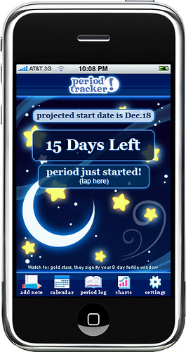 """Glow Girl"" - Period Tracker iPhone App 