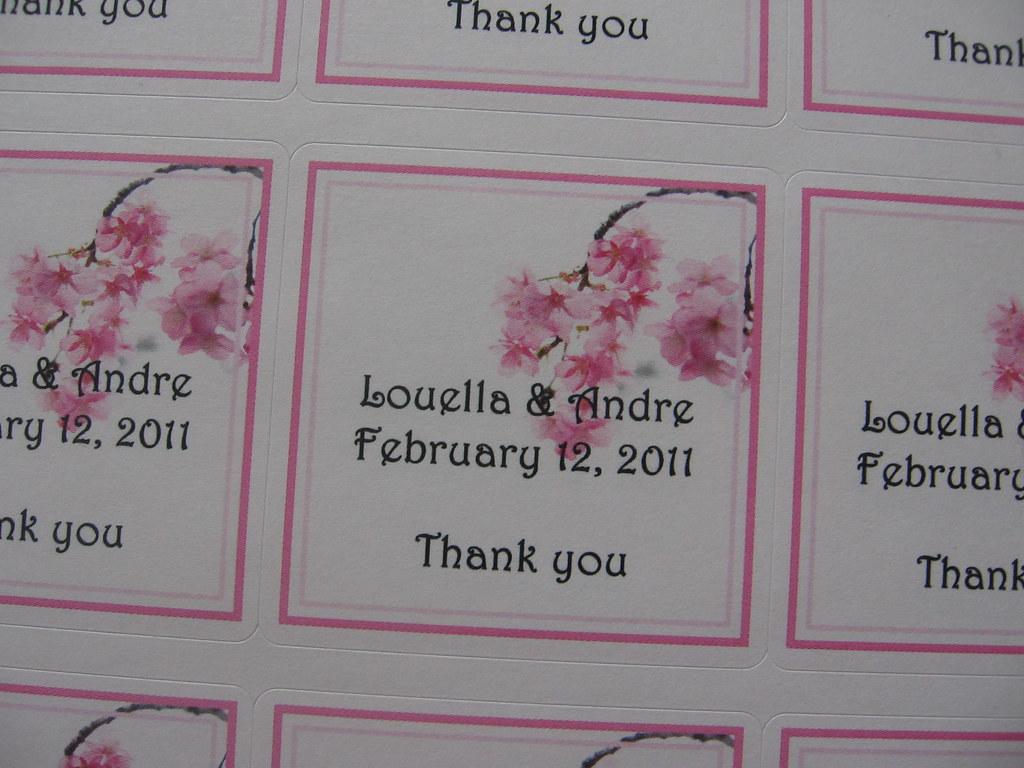 Cherry Blossom Custom Wedding Favor Stickerslabels Flickr