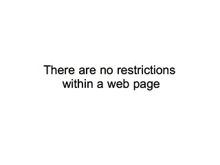 There are no restrictions within a web page | by Terriko