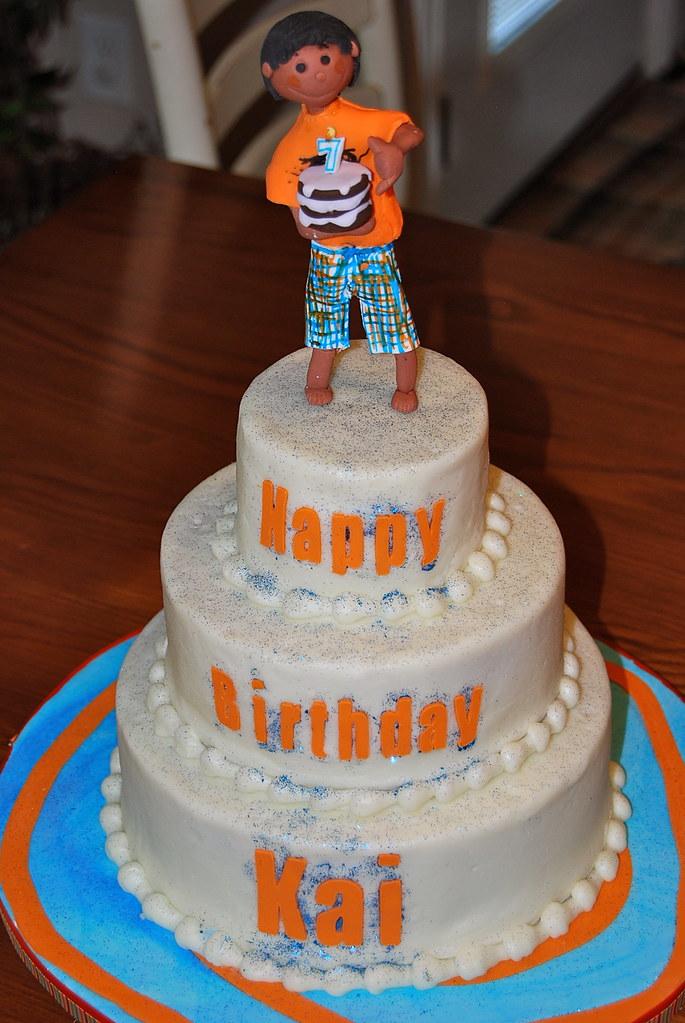 My Son Kais Birthday Cake Kai Loves To Watch Me Decorate Flickr
