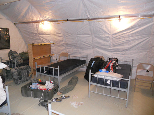 New Afghanistan FOB tent  - Before | by foqus