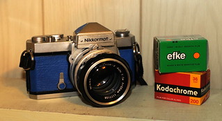 Blue Nikkormat FTn with films | by chuckthewriter