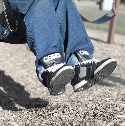Osiris Shoes Black Grey