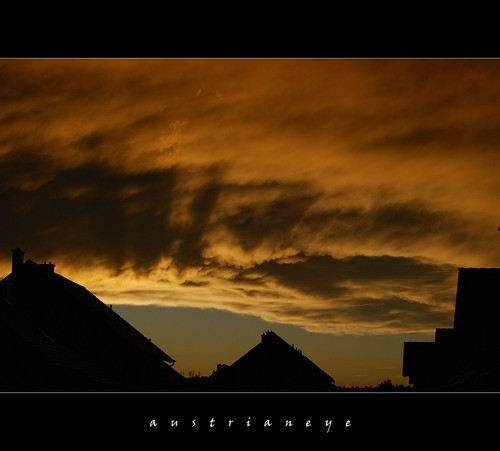 sunset Korneuburg / Austria last weekend | by austrianeye