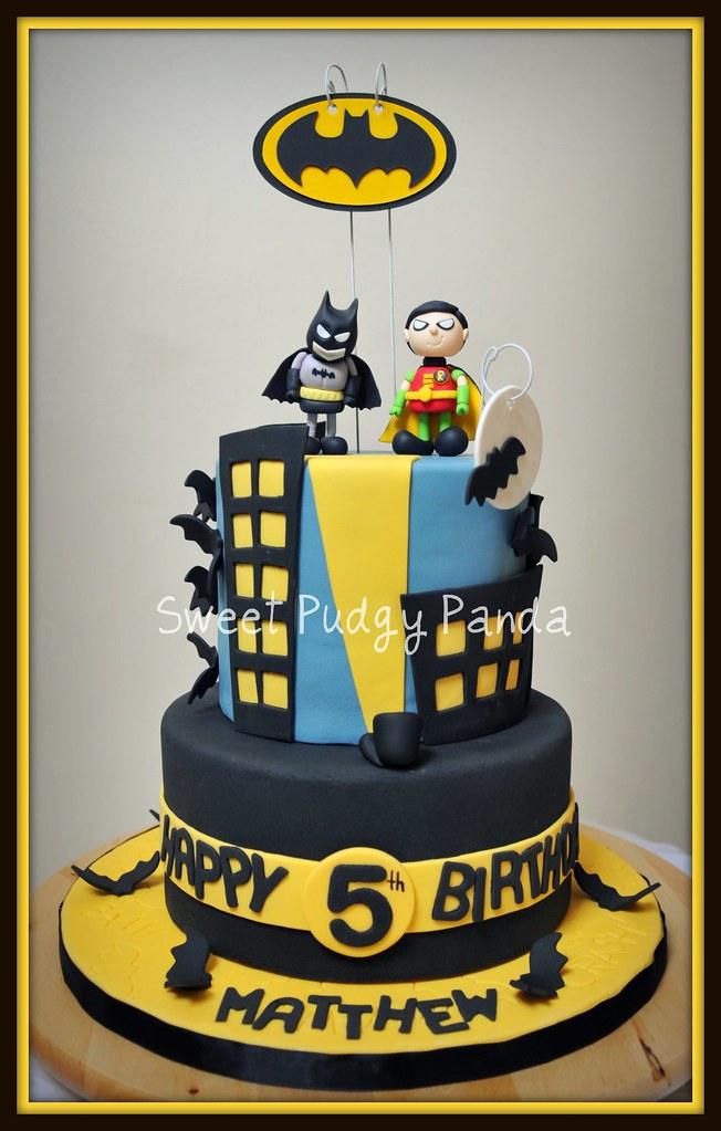 Batman Lego Birthday Robin Cake