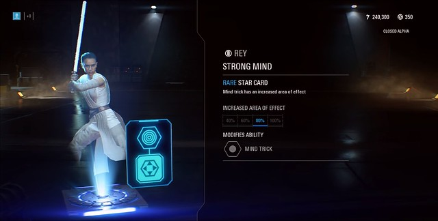 Star Wars Battlefront 2 - Rey Mind Trick Star Card