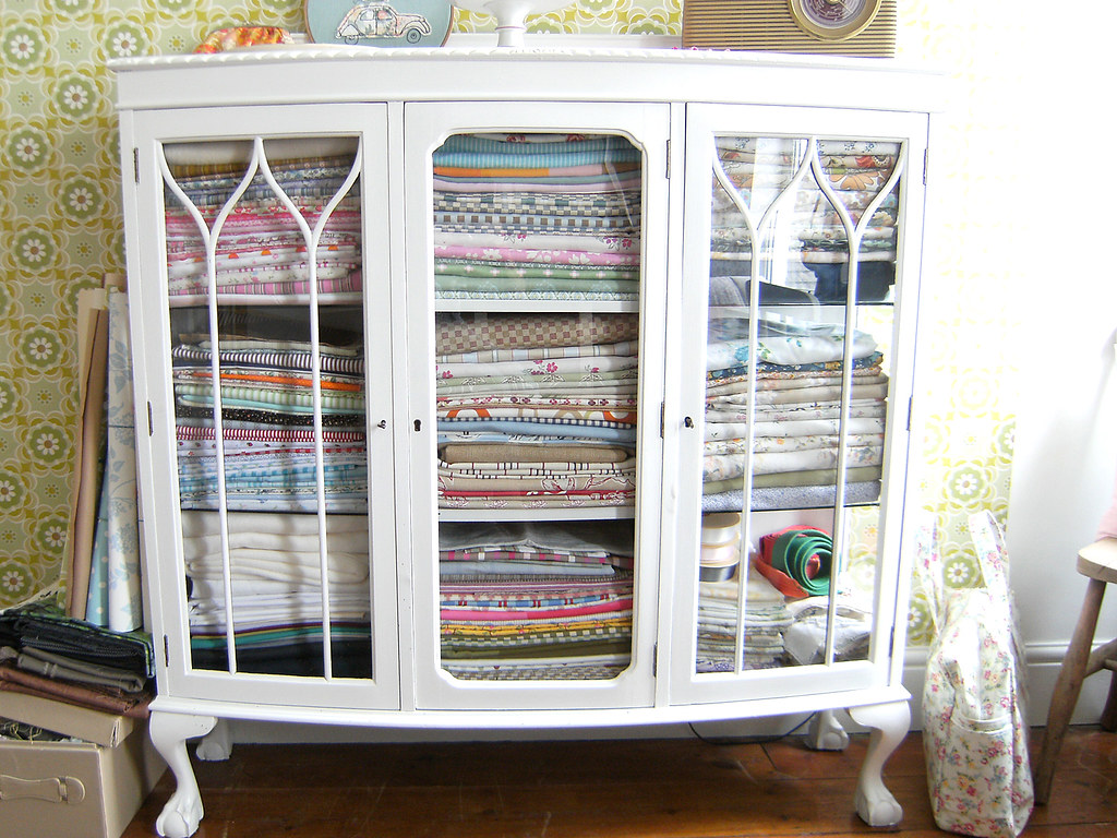 fabric cabinet | Blogged... | Annabelle | Flickr