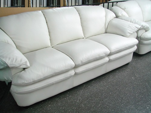 New year 39 s sale furniture natuzzi a845 white leather sofa - Interior leather bar free online ...