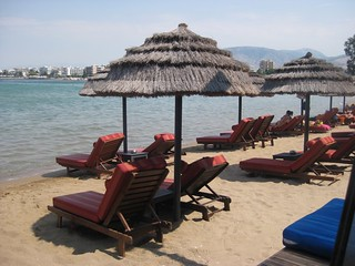 Balux Cafe beach in Glyfada | by Travelsnippets