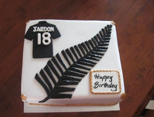Cake Designs Nz : NZ All blacks birthday cake. Bee s Cake Design Flickr