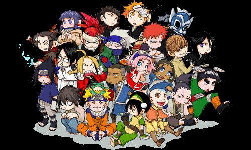 Cartoon Characters Mixed Together : Anime mixed just add yourself if you wan to animenger