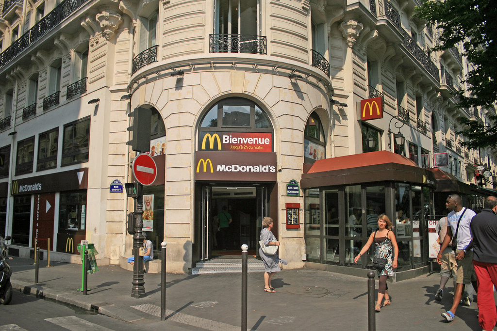 mcdonald 39 s paris boulevard montmartre france one of the flickr. Black Bedroom Furniture Sets. Home Design Ideas