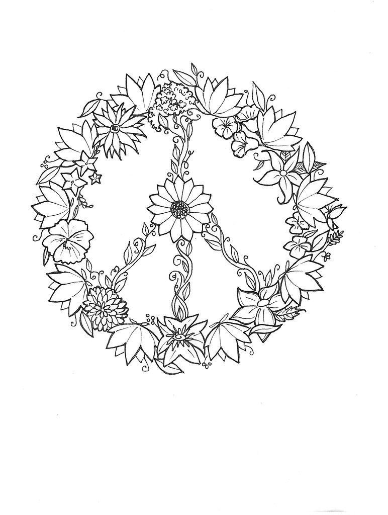 Peace Flowers / Tattoo Design  A Preliminary Sketch For T